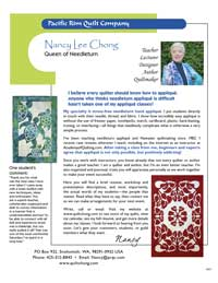 Nancy Lee Chong brochure