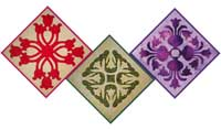 Tulip Hawaiian quilt blocks