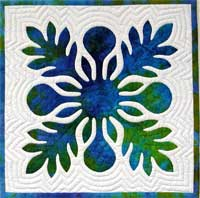 Hawaiian Quilt Ulu block